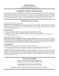 Inventory Management Planner Resume Sales Inventory Management