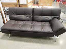 costco leather furniture futon bed