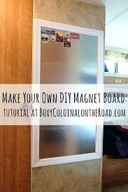 How To Make A Magnetic Memo Board How To Make A Magnetic Board Magnet Board Magnetic Memo Board For 78