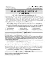 Food Service Experience Resume Food Service Resume Experience Resu Sevte 13
