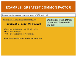 Greatest Common Factor Chart What Is The Greatest Common Factor Of 69 And 46