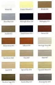 Vinyl Siding Color Chart Color Chart Kaycan Vinyl Siding