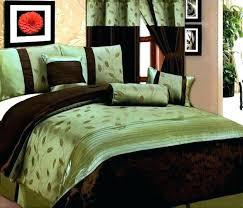 brown bed set dark bedding brilliant comforter sets blue and green teal uk
