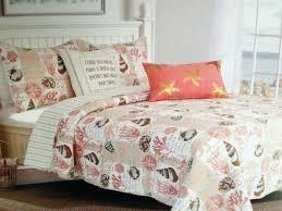 coastal seas king quilt set aqua brown tan c beach house ocean tropical and crib bedding