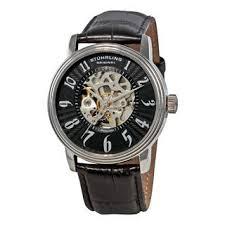 stuhrling original men s solaris automatic black strap watch stuhrling original men s romeo automatic black strap watch