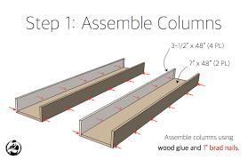 diy faux fireplace mantel surround plans step 1