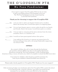 Fundraiser Wording For Flyer Oloughlin Pta Takes Different Approach With No Fuss Fundraiser