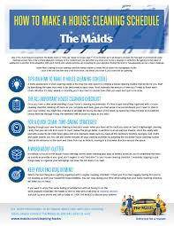 How To Make A House Cleaning Schedule The Maids Cleaning Hacks