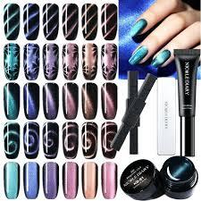 nail polish kits dels about cat eye magnetic soak off gel art black varnish opi canada