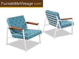 mid century modern patio furniture. Beautiful Century Restored Mid Century Modern Outdoor Chair Intended Patio Furniture