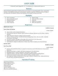 Program Security Officer Sample Resume Fascinating Security Officer Resume Beautiful Security Ficer Resume Beautiful