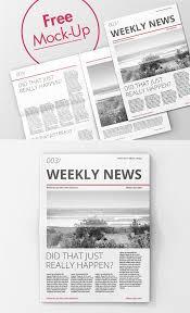 Free High Quality Newspaper Psd Mockups Mockup Templates For
