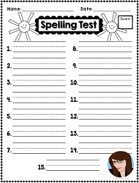 Spelling Test Template Stunning Spelling Test Sheet Erkaljonathandedecker