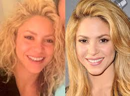 shot 39 year old shakira without makeup caused a stir on the web