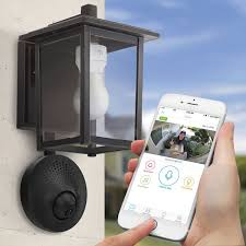 Light Socket Powered WiFi Security Camera Security Pinterest Inspiration Exterior Cameras Home Security Minimalist Collection