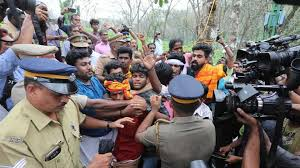 Image result for sabarimala Temple Open On monday Full Tension