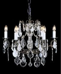impex cb00400 06 crystal collection 6 light antique brass chandelier trimmed with enlarge image