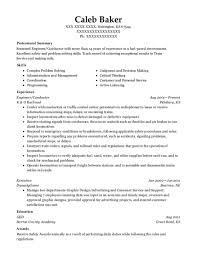 Railroad Resume Examples