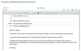 What To Write In Email When Sending Resume Cialisph Classy How To Send Resume Through Email