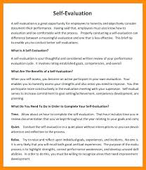 Performance Review Self Assessment Examples Image Collections ...