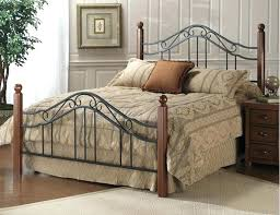 King Size Metal Headboard And Footboard Classic Wood And Wrought ...