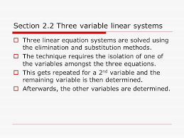section 2 2 three variable linear systems