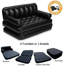 bestway 5 in 1 air sofa bed with pump lounge couch mattress inflatable 3 seater