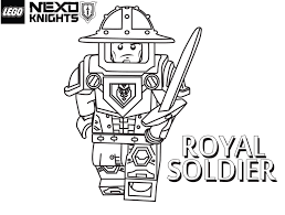 Lego Nexo Knights Coloring Pages Royal Soldier Get Coloring Pages