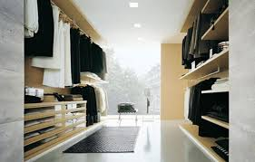 minimalist walk in closet