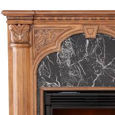 holly martin bedford electric fireplace old world oak 5