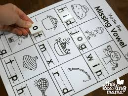 Write The Missing Vowel Worksheets Cvc Words This