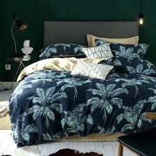 palm leaf bedding primark duvet cover quilt cotton set leaves print tree