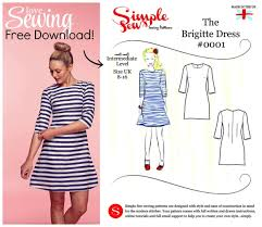 Dress Patterns Free Best Free The Simple Sew 'Brigitte' Dress Pattern