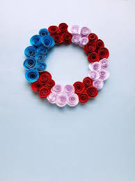 Flower Made In Paper 4th Of July Wreath Made From Paper Flowers Mommy Made That