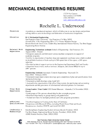 Mechanical Site Engineer Resume 10 Best Best Mechanical Engineer