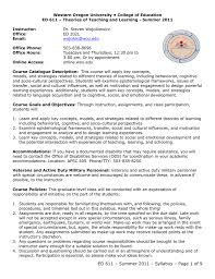 Designing A Motivational Syllabus Ed_611 Syllabus
