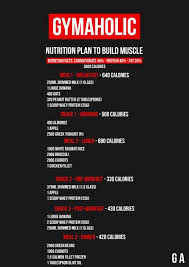Diet Chart For Muscle Building Meal Plan Build Muscle 3000kcal Nutrition Plans