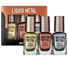 barry m cosmetics molten metals nail paint set 3 pack now 4 99 at argos