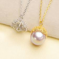925 sterling silver hot party pearl pendant necklace pendant setting findings jewelry parts fittings women accessories