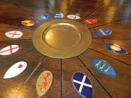 king arthur s great halls badges of the knights of the round table