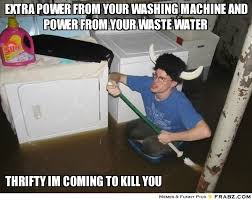extra power from your washing machine and power from your waste ... via Relatably.com