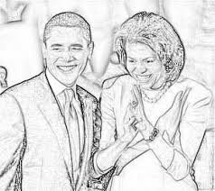 Small Picture Obama Family Coloring Pages February 2009