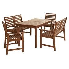 wilko fsc wooden dining set 5 piece image 1