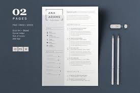 Modern Elegant Font For Resume 20 Beautiful Free Resume Templates For Designers