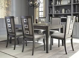 chadoni rect dining table 6 uph side chairs