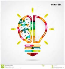 Light Bulb Symbol Copy And Paste Creative Light Bulb Concept With Business Idea Background