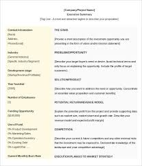 Sample Contract Summary Template Stunning 48 Executive Summary Templates Free Sample Example Format