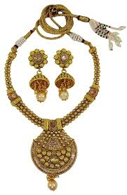 matra goldtone kundan polki necklace earrings set traditional women bollywood jewellery more dels