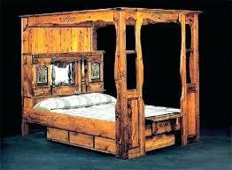 4 Post Log Bed Frame Cedar Pole Soothing King Home Improvement ...