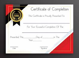 Certificate Of Completeion Free Sample Certificate Of Completion Template Certificate